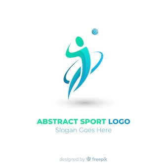 Modern sports logo template with flat design