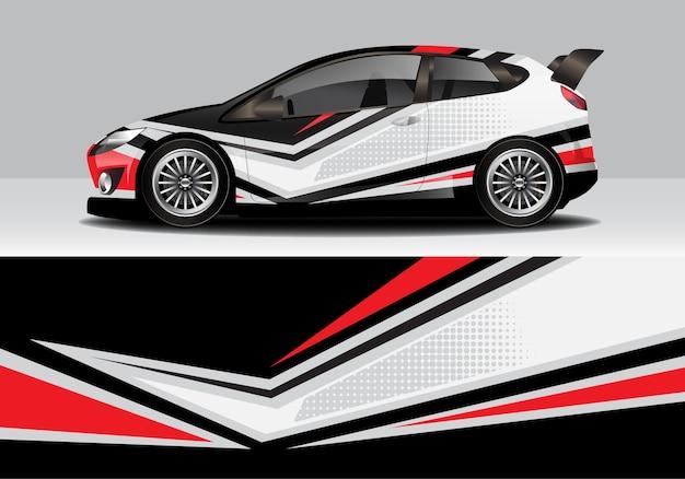 Modern sporty abstract car wrap, auto sticker