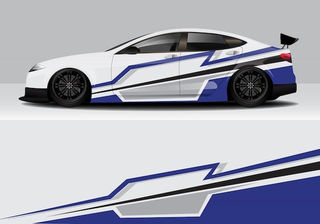 Современная спортивная абстрактная гоночная машина, наклейка с надписью