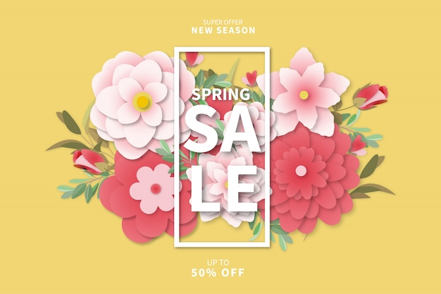 Modern spring sale background