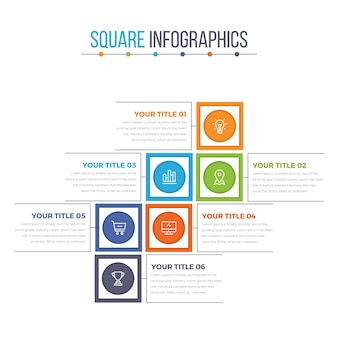 Modern Square Infographics Template