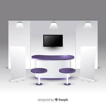 現実的なデザインのモダンスタンド