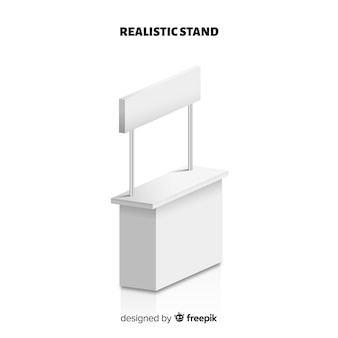 Modern stand with realistic design