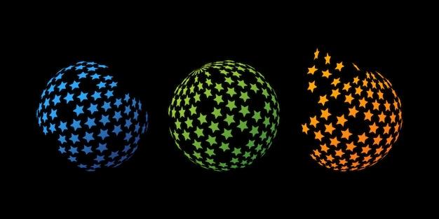 Modern star globe logo