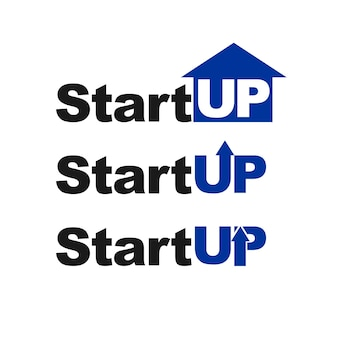 Современный стартап типографика логотип