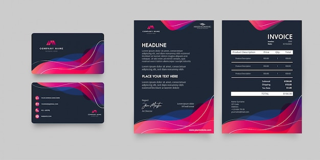 Modern stationery business pack