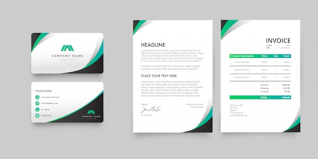 Modern stationery pack