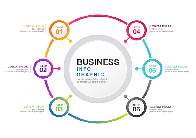 Modern step business infographic