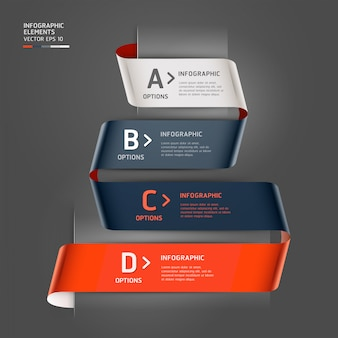 Modern step up options ribbon style can be used for workflow layout, diagram, number options, step up options, web design, infographics template.