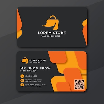 Modern store manager sales business card