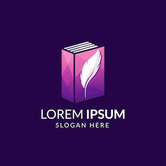 Шаблон логотипа книги современной истории жизни