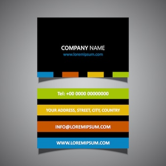 Modern striped business card design