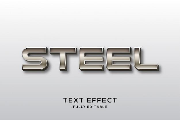 Современный сильный стальной текстовый эффект