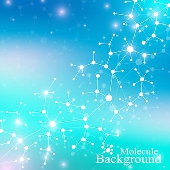 現代の構造分子dna。原子。医学、科学、技術、化学の分子とコミュニケーションの背景。医学の科学的背景。