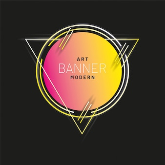 Modern style abstract banner