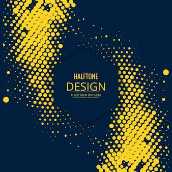 Modern style background of yellow circles