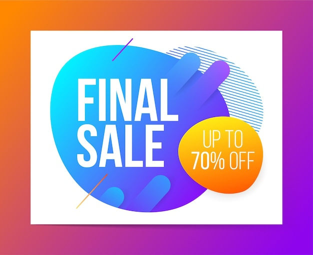 Modern style final sale discount illustration