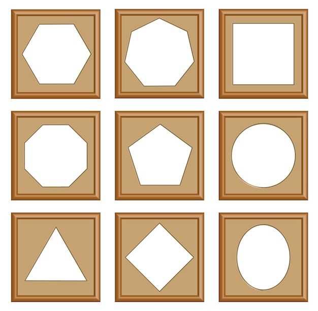 Modern style frames set