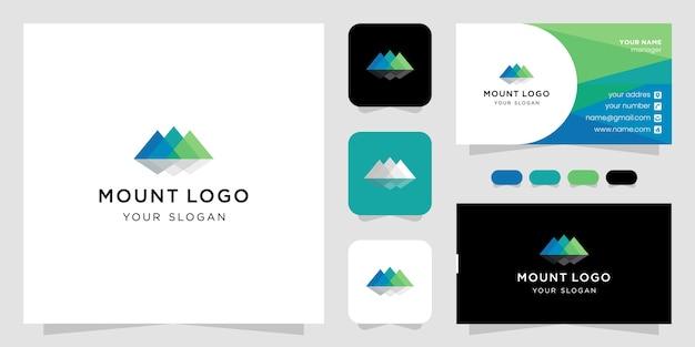 Modern style mountain geometric logo