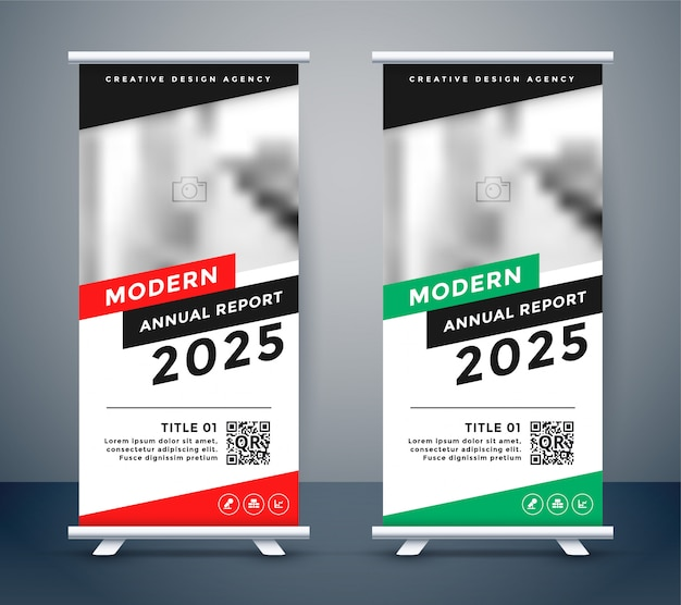 Modern style rollup standee banner