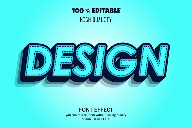 Modern styled 3d font effect