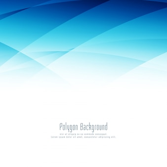 Modern stylish blue polygon design background
