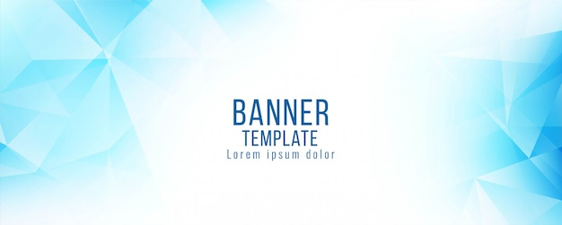 Modern stylish blue polygonal banner template vector