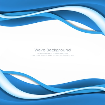 Modern stylish blue wave background design