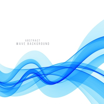 Modern stylish blue wave background