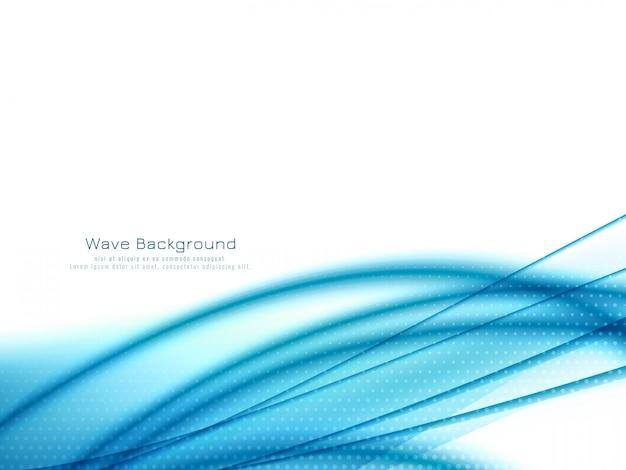 モダンなスタイリッシュな青い波背景