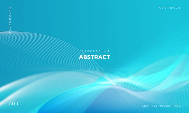 Modern stylish blue wave shiny background