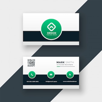 Modern stylish company business card template vector illustration