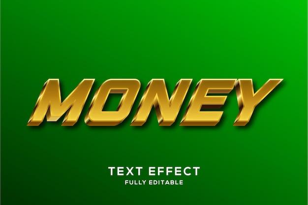 Современный стильный золотой эффект стиля текста 3d