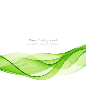 Modern stylish green wave background