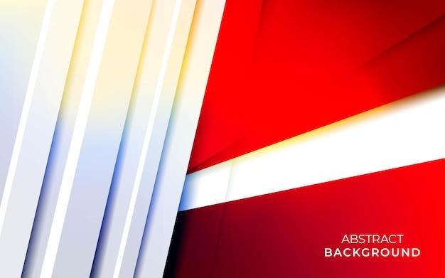 겹침 용지 효과가 있는 현대적인 세련된 빨간색 배경.