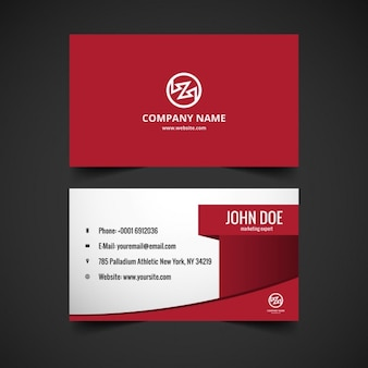 Modern stylish visiting card in color red