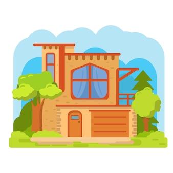 Modern suburban american house