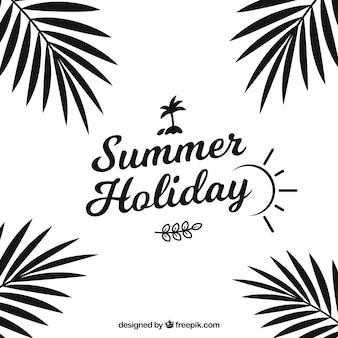 Modern summer lettering concept