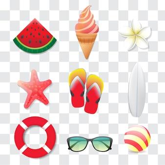 Modern summer ornament design