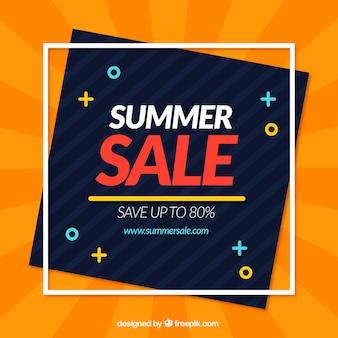 Modern summer sale background