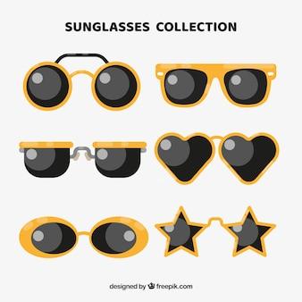 플랫 스타일의 현대 선글라스 컬렉션