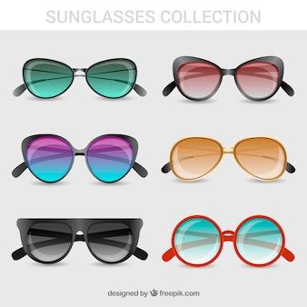 Collezione di occhiali da sole moderni