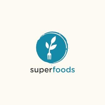 Шаблон логотипа modern super foods