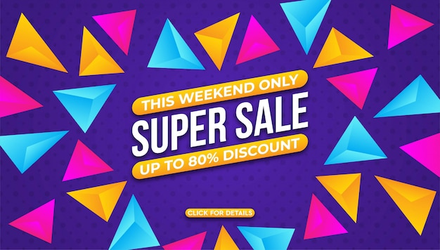 Modern super sale banner background   template.