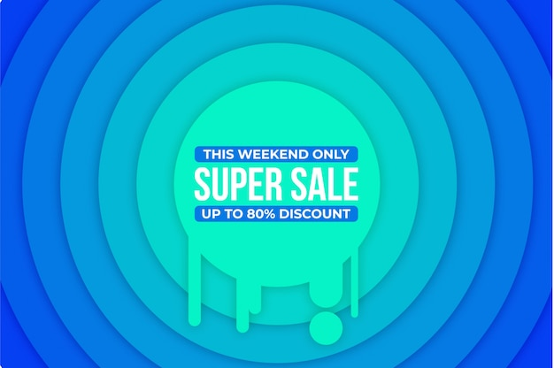 Modern super sale banner background  ,