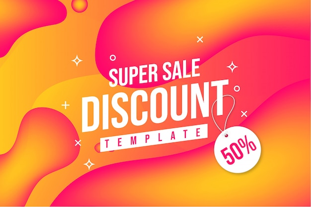 Modern super sale discount template