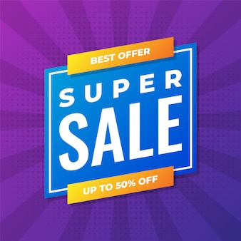 Modern super sale purple banner