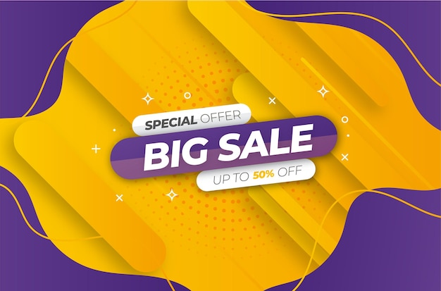 Modern super sale with colorful design template