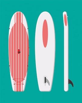 モダンなサーフボード。サーフィンボード