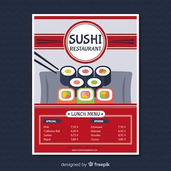 Modern sushi restaurant flyer template